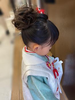 七五三着付けは【ルージュ】護国寺ルージュ美容院へ☆彡の画像