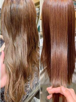 40代:うねりのある髪