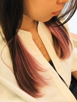 ピンク☆インナーカラーの画像