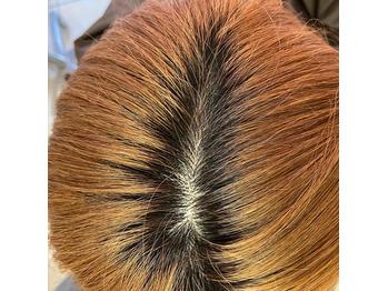 ブリーチ毛のリタッチを綺麗にする方法!の画像