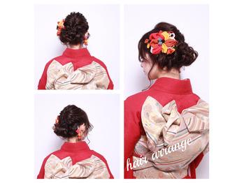 お着物のヘアアレンジ☆彡の画像